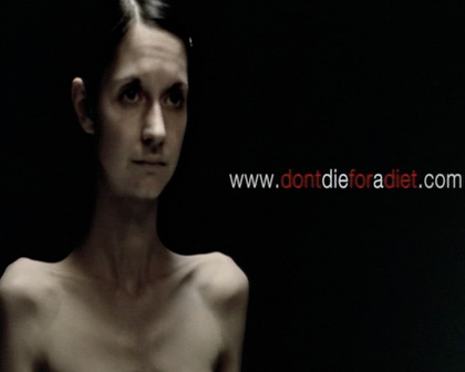 "ANOREXIA ""DON'T DIE FOR A DIET"""